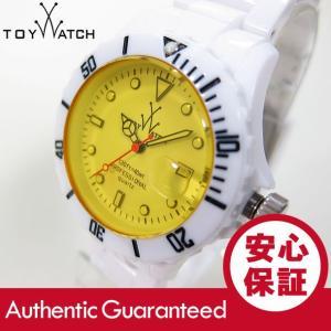 ToyWatch (トイウォッチ) FL01WHYL FLUO ダイバーズスタイル 樹脂ベルト ホワイト×イエロー レディースウォッチ 腕時計 【あすつく】|goody-online