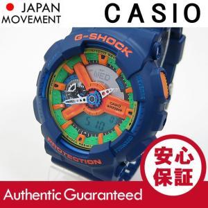 CASIO G-SHOCK(カシオ Gショック) GA-110FC-2A/GA110FC-2A クレイジーカラーズ ブルー アナデジ メンズウォッチ 腕時計【あすつく】|goody-online