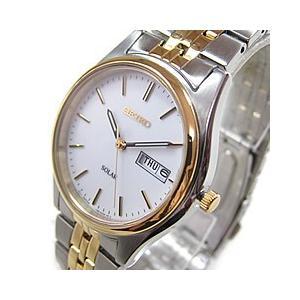 SEIKO(セイコー) SOLAR/ソーラー SNE032 ホワイト ゴールドコンビ メンズウォッチ 腕時計 【あすつく】 goody-online
