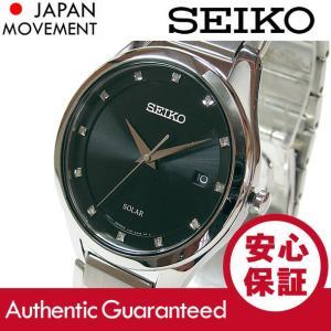 SEIKO(セイコー) SOLAR/ソーラー SNE249 ダイアモンド ブラック ステンレスベルト メンズウォッチ 腕時計 【あすつく】|goody-online