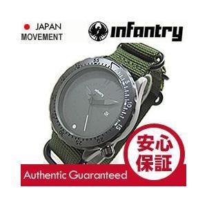 INFANTRY(インファントリー) IN-037-WHGR ブラック ホワイトベゼル×グリーンZULUベルト ミリタリーウォッチ/メンズウォッチ 腕時計 goody-online