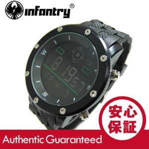 INFANTRY(インファントリー) IN-068-BLK-R デジタル 樹脂ベルト ブラック ミリタリーウォッチ/メンズウォッチ 腕時計 【あすつく】 goody-online