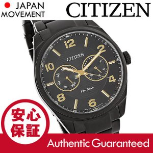CITIZEN (シチズン) AO9025-53E Eco-Drive/エコドライブ マルチファンクションカレンダー ブラック メタルベルト メンズウォッチ 腕時計|goody-online