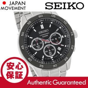 SEIKO (セイコー) SKS527 クロノグラフ ブラックダイアル メタルベルト シルバー メンズウォッチ 腕時計|goody-online