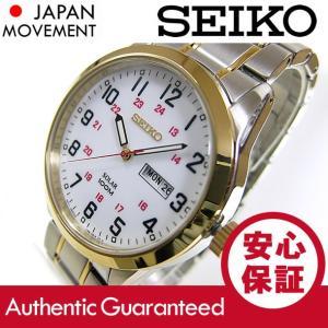 SEIKO (セイコ) SNE370 SOLAR/ソーラー ゴールド×シルバー ツートーン メタルベルト メンズウォッチ 腕時計 【あすつく】|goody-online