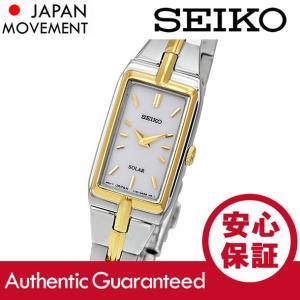 SEIKO (セイコー) SUP272 SOLAR/ソーラー ホワイトダイアル メタルベルト ゴールド×シルバー コンビ レディースウォッチ 腕時計|goody-online