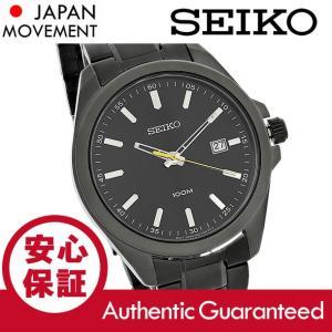 SEIKO (セイコー) SUR073 ベーシック メタルベルト ブラック メンズウォッチ 腕時計|goody-online