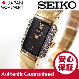 SEIKO (セイコ) SYL780 ベーシック ダイヤモンド装飾 ブレスレットタイプ レクタングル ゴールド レディースウォッチ 腕時計 【あすつく】|goody-online