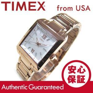TIMEX (タイメックス) T2P405 Classics/クラシック マザーオブパール レクタングル メタルベルト ローズゴールド レディースウォッチ 腕時計【あすつく】|goody-online