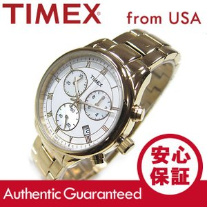 TIMEX (タイメックス) T2P408 Classics/クラシック クロノグラフ メタルベルト マザーオブパールダイアル レディースウォッチ 腕時計【あすつく】|goody-online