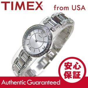 TIMEX (タイメックス) T2P415 Classics/クラシック クリスタル装飾 メタルベルト シルバー レディースウォッチ 腕時計【あすつく】|goody-online