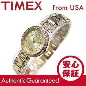 TIMEX (タイメックス) T2P417 Classics/クラシック クリスタル装飾 メタルベルト ゴールド レディースウォッチ 腕時計【あすつく】|goody-online