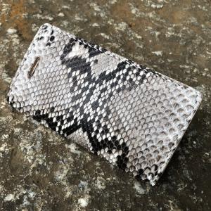 iPhone8/iPhone7ケース/アイフォン8/アイフォン7 手帳型ケース 本革/レザー ハンドメイド ダイヤモンドパイソン IP7-DPYNA LEVEL7/レベルセブン|goody-online