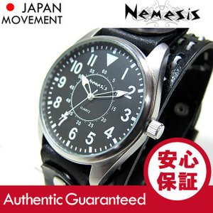 NEMESIS(ネメシス) Leather Cuff/レザーカフウォッチ KDSTH095K アメリカンカジュアル メンズウォッチ 腕時計 【あすつく】|goody-online