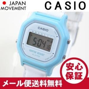 CASIO(カシオ) LA-11WL-2A/LA11WL-2A ベーシック デジタル ブルー×ホワイト キッズ・子供 かわいい!レディースウォッチ チープカシオ 腕時計 【あすつく】|goody-online