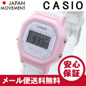 CASIO カシオ LA-11WL-4A/LA11WL-4A ベーシック デジタル ピンク×ホワイト キッズ 子供 かわいい!レディース チープカシオ 腕時計 【あすつく】|goody-online