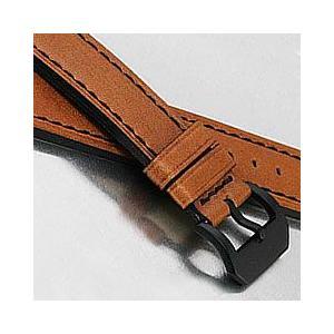 【24MM】 LUM-TEC (ルミテック) 24mm対応 レザーベルト ブラウン 純正 替えベルト 腕時計|goody-online