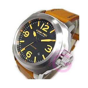 LUM-TEC (ルミテック) M56 M Quartz/Mクォーツ ロンダクォーツ搭載 替えベルト付き オレンジインデックス メンズウォッチ 腕時計|goody-online