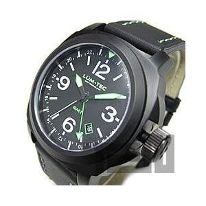 LUM-TEC (ルミテック) M58 M Quartz/Mクォーツ ロンダクォーツ搭載 替えベルト付き チタンカーバイドPVD グリーンステッチ メンズウォッチ 腕時計|goody-online