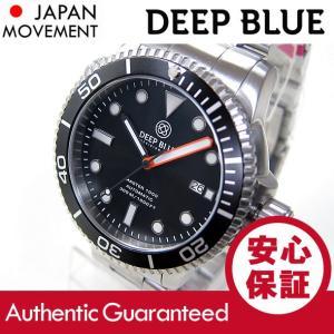 DEEP BLUE (ディープブルー) MASTER 1000FT防水 オートマチック SEIKO 自動巻き ブラックダイアル M1000-BK SS 腕時計 【あすつく】|goody-online