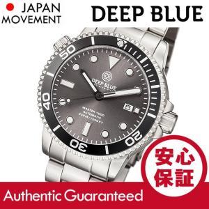 DEEP BLUE (ディープブルー) MASTER 1000FT防水 オートマチック SEIKO 自動巻き グレーダイアル ダイバーズウォッチ MAS1KGREYSUNBRACELET 腕時計|goody-online