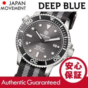 DEEP BLUE (ディープブルー) MASTER 1000FT防水 オートマチック SEIKO 自動巻き グレーダイアル ダイバーズウォッチ MAS1KGREYSUNNATO 腕時計|goody-online
