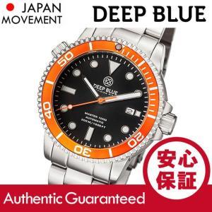 DEEP BLUE (ディープブルー) MASTER 1000FT防水 オートマチック SEIKO 自動巻き オレンジベゼル ダイバーズウォッチ MAS1KORGBEZBRACELET 腕時計|goody-online
