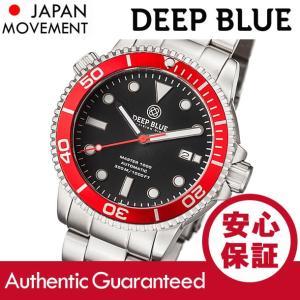 DEEP BLUE (ディープブルー) MASTER 1000FT防水 オートマチック SEIKO 自動巻き レッドベゼル ダイバーズウォッチ MAS1KREDBEZBRACELET 腕時計|goody-online