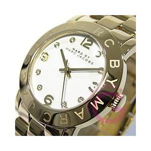 MARC BY MARC JACOBS (マーク バイ マークジェイコブス) Amy/アミー MBM3056 ラウンド メタルベルト ゴールド レディースウォッチ 腕時計|goody-online