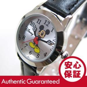 Disney (ディズニー) MCK344 MICKEY/ミッキーマウス アナログ ブラック×シルバー キッズ・子供 かわいい! レディースウォッチ 腕時計|goody-online