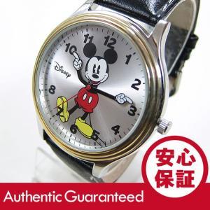 Disney (ディズニー) MCK851 MICKEY/ミッキーマウス アナログ  ゴールド×シルバー コンビ かわいい! ユニセックス 腕時計|goody-online