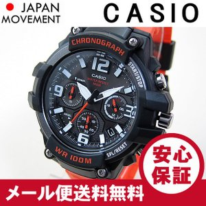 CASIO (カシオ) MCW-100H-4A/MCW100H-4A クロノグラフ オレンジ キッズ・子供 かわいい! メンズウォッチ チープカシオ 腕時計 【あすつく】|goody-online