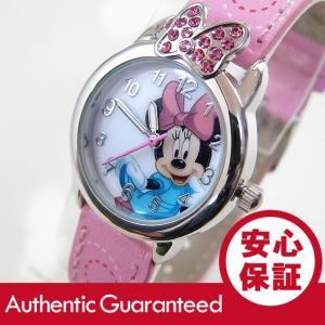 Disney (ディズニー) MIN061 MICKEY/ミッキーマウス ミニーマウス ストーン装飾 ピンク キッズ・子供 かわいい! レディースウォッチ 腕時計 goody-online