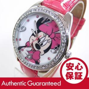 Disney (ディズニー) MIN125 MICKEY/ミッキーマウス ミニーマウス アナログ ストーン装飾 ピンク かわいい! レディースウォッチ 腕時計 【あすつく】|goody-online