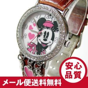 Disney (ディズニー) MIN152 MICKEY/ミッキーマウス ミニーマウス ストーン装飾 ピンク キッズ・子供 かわいい! レディースウォッチ 腕時計 【あすつく】|goody-online