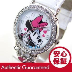 Disney (ディズニー) MINAQ355 MICKEY/ミッキーマウス ミニーマウス ストーン装飾 キッズ・子供 かわいい! レディース 腕時計 【あすつく】|goody-online