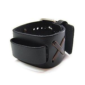 【ラグ幅:20-22mm対応】NEMESIS(ネメシス)NXB Leather Cuff/レザーカフ付け替えベルト アメリカンカジュアル 腕時計替えバンド/ベルト|goody-online