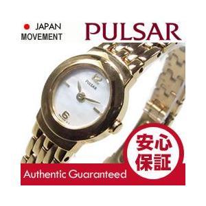 SEIKO PULSAR (セイコー パルサー) PEG642 マザーオブパールダイアル ゴールド ブレスレット メタルベルト スリム レディースウォッチ 腕時計|goody-online