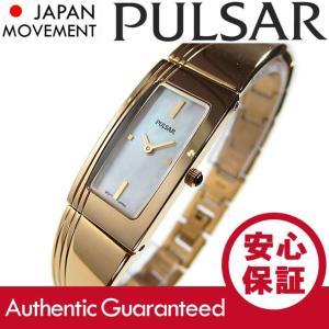 SEIKO PULSAR (セイコー パルサー) PEGD44 マザーオブパールダイアル ゴールド ブレスレット メタルベルト スリム レディースウォッチ 腕時計 【あすつく】|goody-online