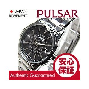 SEIKO PULSAR (セイコー パルサー) PH7307 ブラック×シルバー ブレスレット スリム メタルベルト レディースウォッチ 腕時計【あすつく】|goody-online