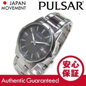 SEIKO PULSAR (セイコー パルサー) PH9013 ブラック×シルバー ブレスレット スリム メタルベルト メンズウォッチ 腕時計【あすつく】|goody-online