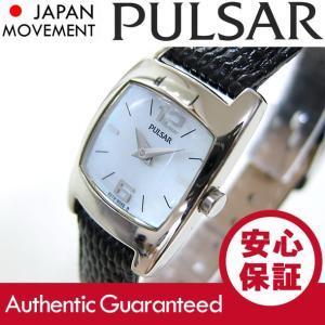 SEIKO PULSAR (セイコー パルサー) PJ5117 マザーオブパールダイアル ブラック ブレスレット レザーベルト スリム レディースウォッチ 腕時計 【あすつく】|goody-online