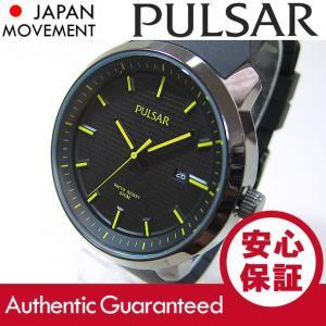PULSAR (パルサー) PS9101 クォーツ ラバーベルト イエローインデックス メンズウォッチ 腕時計 【あすつく】|goody-online