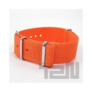 【20MM/285MM NATOベルト】 T2N Strap(T2Nストラップ) PT20NT-4OR プレミアムナイロン製 NATOナイロン ストラップ オレンジ 替えベルト 腕時計用|goody-online