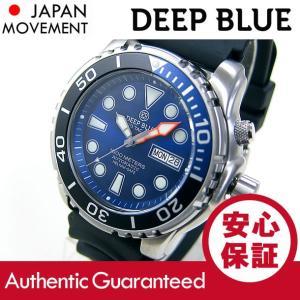 DEEP BLUE (ディープブルー) PTAUTO14BLUE Pro Tac Diver 1000m防水 ダイバーズ 日本製 Seiko NH36 自動巻きムーブメント搭載 ブルーダイアル 腕時計|goody-online