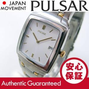 SEIKO PULSAR (セイコー パルサー) PVK087 ゴールド×シルバー ツートーン ブレスレット メタルベルト メンズウォッチ 腕時計 【あすつく】|goody-online