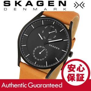 SKAGEN (スカーゲン) SKW6265 Holst/ホルスト スリム レザーベルト ブラックダイアル メンズウォッチ 腕時計|goody-online