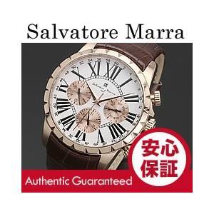 Salvatore Marra(サルバトーレ マーラ) SM15103-PGWH マルチファンクションカレンダー レザーベルト メンズウォッチ 腕時計【あすつく】|goody-online