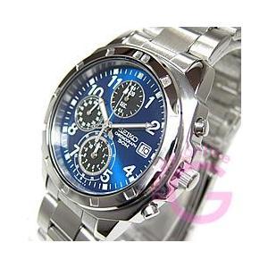 SEIKO (セイコー) SND193P 1/20秒クロノグラフ 日本製ムーブメント搭載 ステンレスベルト メタルブルー メンズウォッチ 腕時計 【あすつく】|goody-online