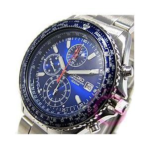 SEIKO (セイコー) SND255P1 パイロットクロノグラフ メタルベルト ブルー メンズウォッチ 腕時計|goody-online